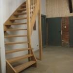 Open houten trap