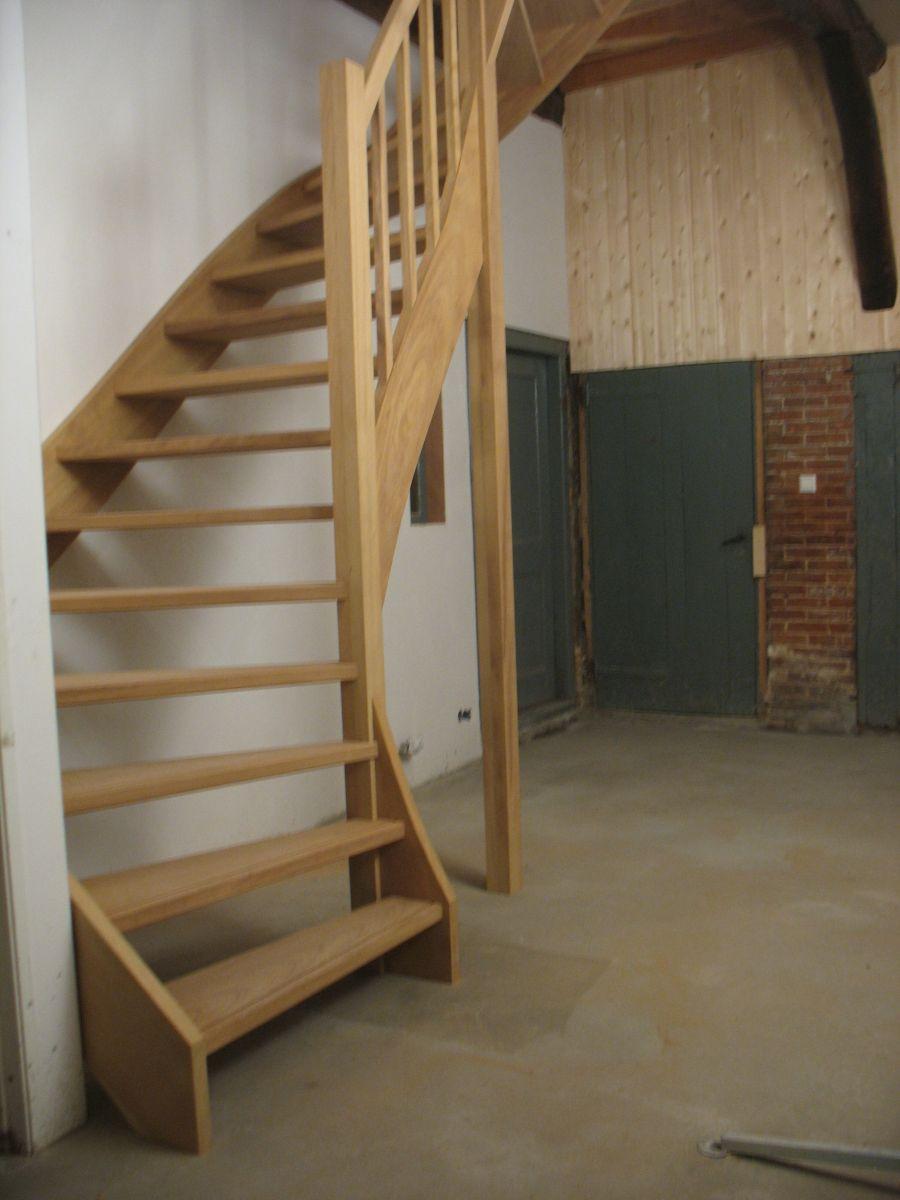 Kwart met steek trap timmer en trappenbedrijf van kooten - Midden kamer trap ...